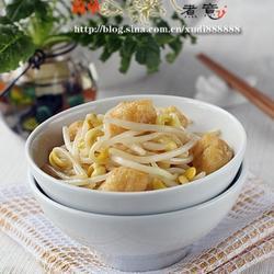 油豆腐炒豆芽的做法[图]