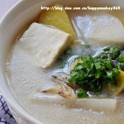 魚頭豆腐湯的做法[圖]