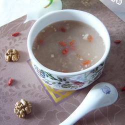 核桃枸杞大米粥的做法[图]