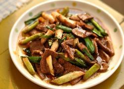 大蒜炒猪肝