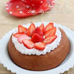 心形巧克力草莓蛋糕的做法[圖]