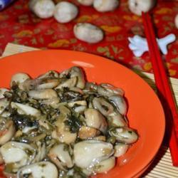 草菇炒咸菜的做法[图]