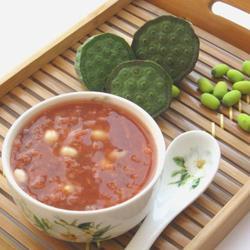 新鲜莲子荷叶饭豆冰粥的做法[图]