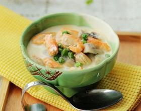 奶香青豆煨河虾[图]
