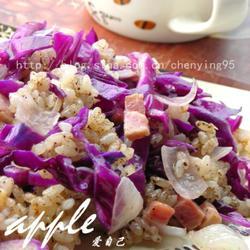 酒香紫甘蓝烩饭的做法[图]