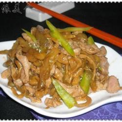 芥蓝头榨菜肉丝的做法[图]