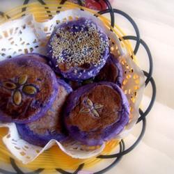 紫薯黑芝麻饼的做法[图]