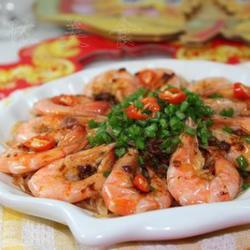 拌饭酱蒸鲜虾粉丝的做法[图]