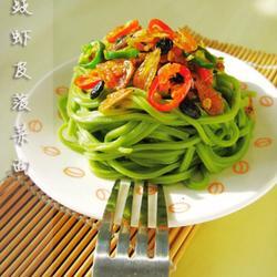 豆豉虾皮菠菜面的做法[图]