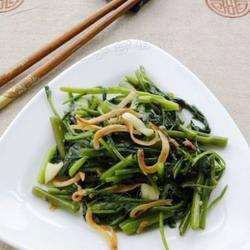 丁香鱼炒空心菜的做法[图]