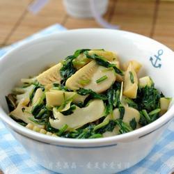 马兰春笋炒菇片的做法[图]