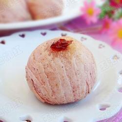 红曲豆沙酥的做法[图]