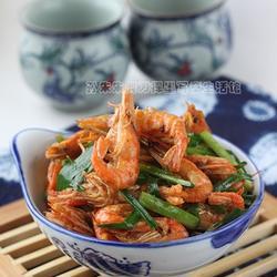 豉香江虾炒韭菜的做法[图]