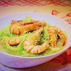 青萝卜炖虾的做法[图]