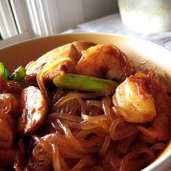 鲜虾口蘑炒粉条的做法[图]