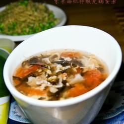 紫菜西红柿鸡蛋虾皮汤的做法[图]