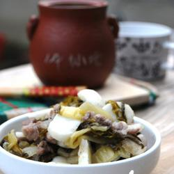 雪菜荸荠小炒肉的做法[图]