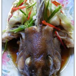 清蒸褐石斑鱼的做法[图]