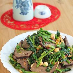 酱猪肝拌菠菜的做法[图]