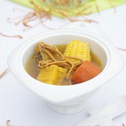虫草花粉葛玉米汤的做法[图]