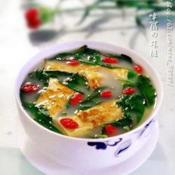 枸杞叶蛋皮汤的做法[图]