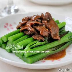 蚝油芥兰牛肉的做法[图]