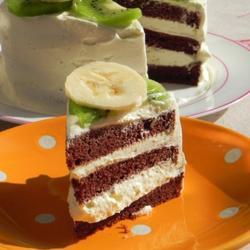 可可榛子奶油戚风蛋糕的做法[图]