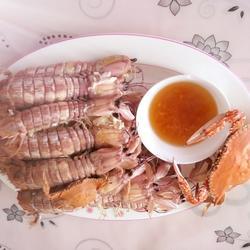 姜醋汁琵琶虾的做法[图]