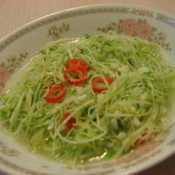 清脆豌豆苗的做法[图]