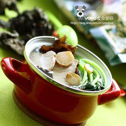 白芷木耳塔菇菜湯的做法[圖]