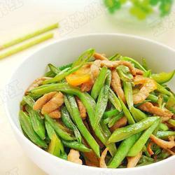 扁豆炒肉丝的做法[图]