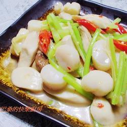 芹菜杏鲍菇炒干贝的做法[图]