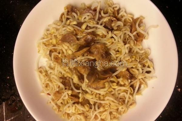 豆芽炒盐焗鸡肾