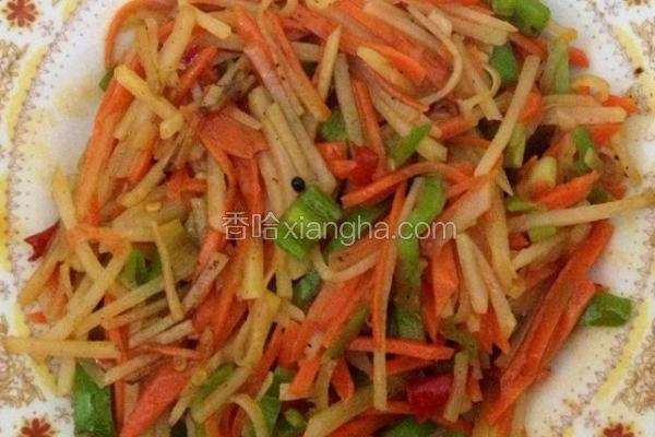 炒胡萝卜土豆丝