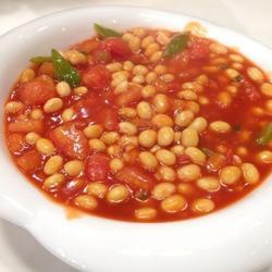 番茄烩黄豆的做法[图]