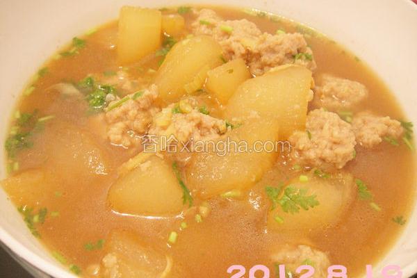 冬瓜猪肉丸子汤