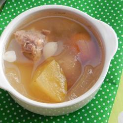 青苹果芦荟猪脊骨汤的做法[图]