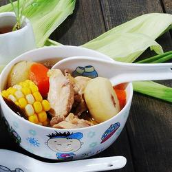 红萝卜马蹄玉米鸡汤的做法[图]
