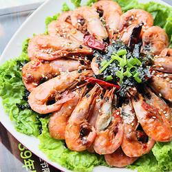 香辣海苔北极虾的做法[图]