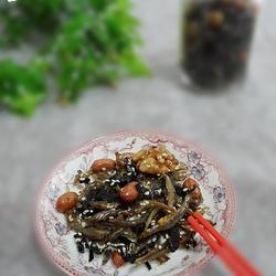 海苔坚果芝麻小鱼干的做法[图]