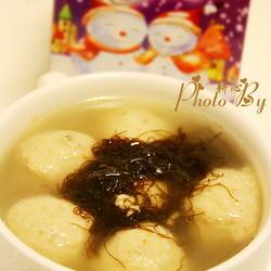 发菜贡丸汤的做法[图]