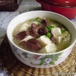 肉丝豆腐猪血汤的做法[图]