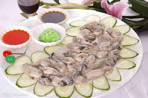 凉拌生牡蛎