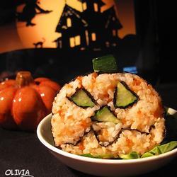 南瓜灯鱼子酱寿司的做法[图]