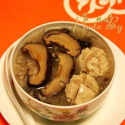 发菜香菇肉丸粥的做法[图]