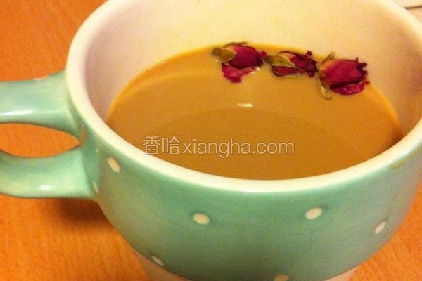 养颜玫瑰奶茶