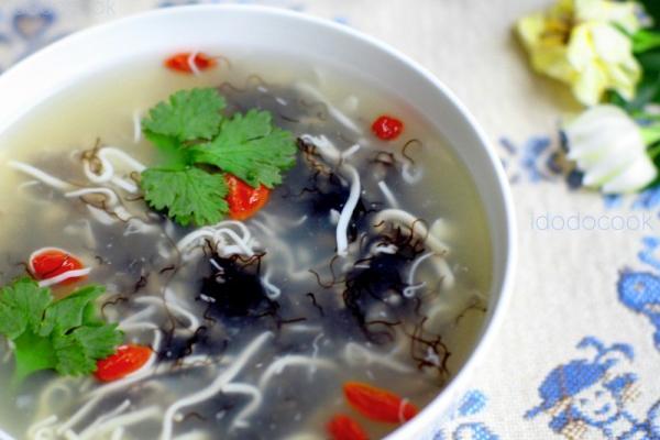 发菜银丝豆腐羹