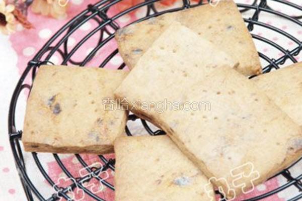 红枣麦芽饼干
