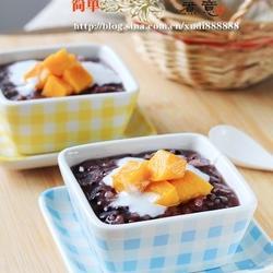 椰浆芒果紫米粥的做法[图]