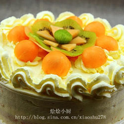 哈密瓜生日蛋糕的做法[图]